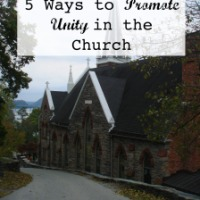 5 Ways to Promote Unity in the Church