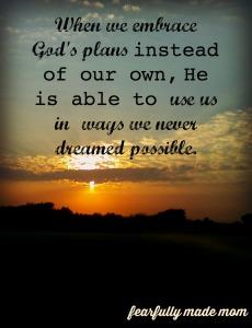 his plans