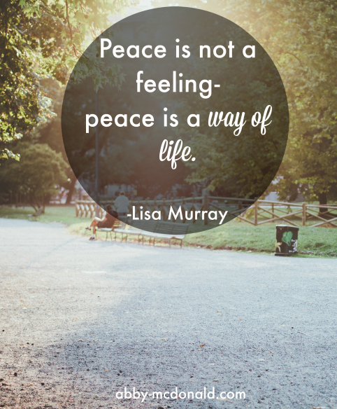 Peace for a Lifetime Book Review