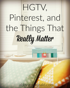 hgtv and things that matter