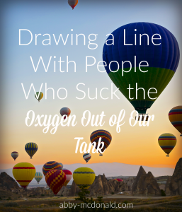 drawing a line with people who deflate us