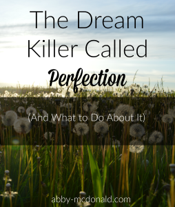 the dream killer called perfection