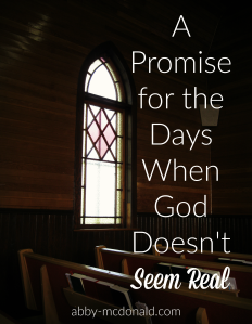 A Promise for the Days When God Doesn't Seem Real